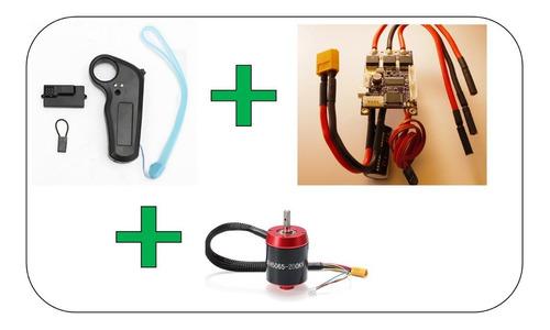 kit electrico motor brushless + vesc + mini rc 2.4ghz