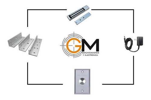 kit electroiman + boton de salida + fuente + soporte zl