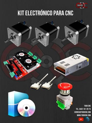 kit electrónico básico arma tu mini cnc (router, plasma, 3d)