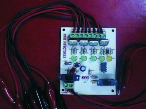 kit electronico pulsador de 4 inyectores