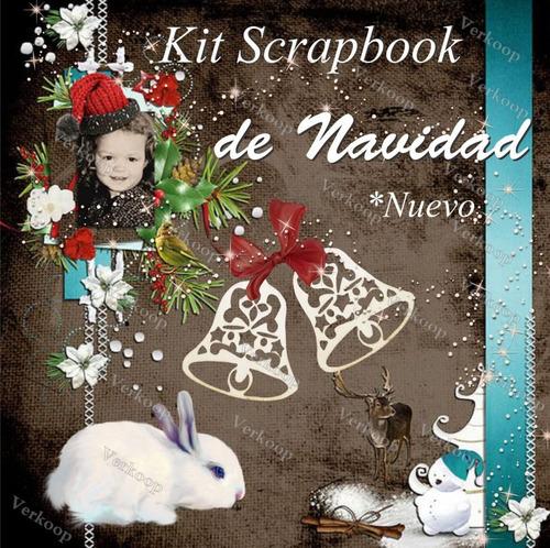 kit elementos scrapbook de navidad, imagenes png frames