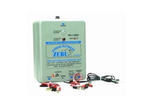 kit eletrificador de cerca animal 80 km zebu + placa solar