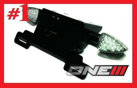 kit eliminador de rabeta xj6 com luz de placa em led e pisca