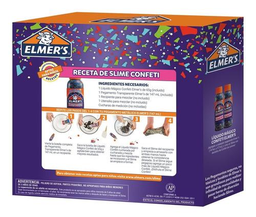 kit elmer´s masa pegajosa confeti para slime