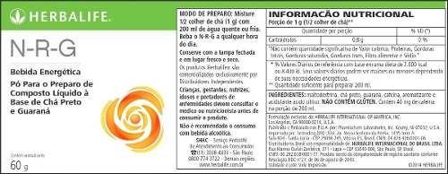 kit emagrecimento herbalife - 2 shakes + chá 50g + nrg 60g