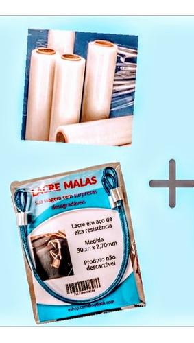 kit embalar mala plastico film proteger 4 bagagem de viagem
