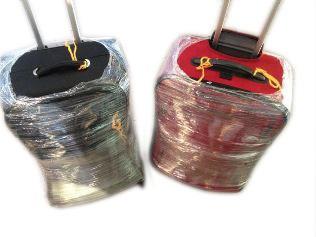 kit embalar malas de viagem proteção bagagem plastico filme