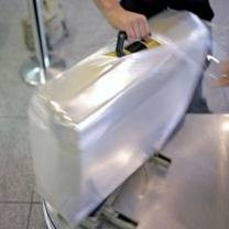 kit embalar malas proteção bagagem plastico filme empacotar