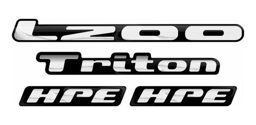 kit emblema adesivo resinado mitsubishi l200 triton hpe