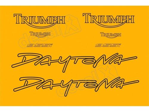kit emblema adesivo triumph daytona 955i amarela d955009