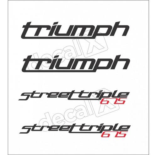 kit emblema adesivo triumph street triple 675 tpst675004