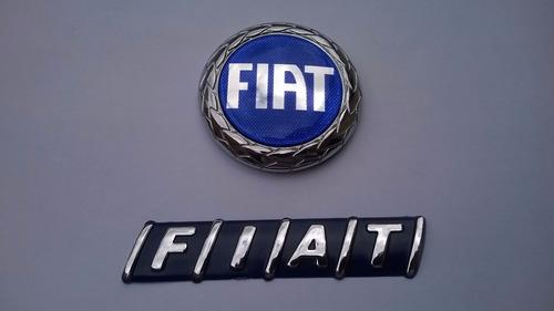 kit emblema azul parafuso capo e mala palio 96/02- bre
