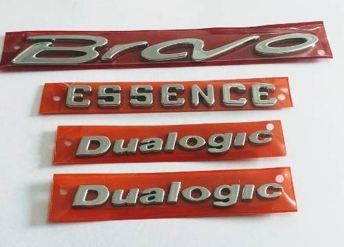 kit emblema letreiro bravo essence 2 dualogic cromado