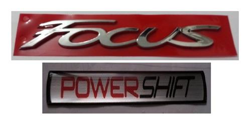 kit emblema new focus power shift + brinde focus power shif