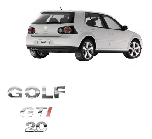 kit emblema nome golf + gti + 2.0