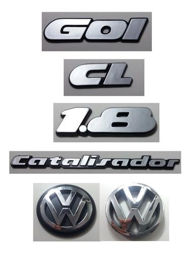 kit emblema volks gol cl 1.8 catalisador vw grade mala 90/97