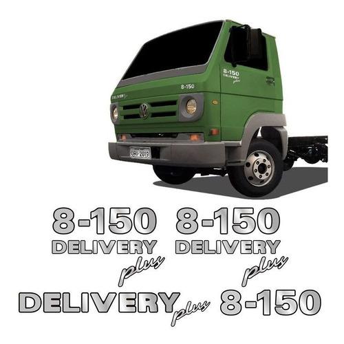 kit emblemas 8-150 delivery plus volkswagen adesivo caminhão