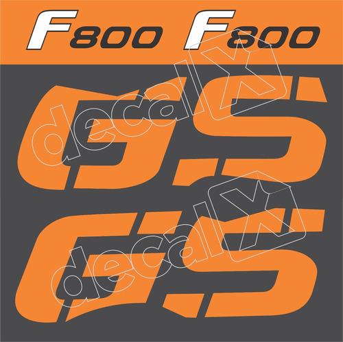 kit emblemas adesivo bmw f800gs laranja 2012 f80011