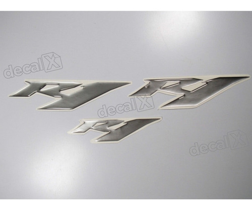 kit emblemas adesivos resinado yamaha r1 prata