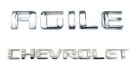 kit emblemas agile chevrolet + brinde emblema chave canivete