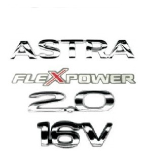 kit emblemas astra 2.0 16v flexpower + brinde
