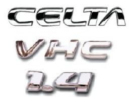 kit emblemas celta vhc 1.4 + brinde