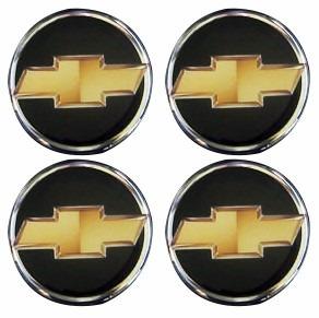 kit emblemas chevrolet gm p/ calota 4 peças 68mm dacar parts