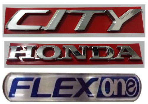 kit emblemas city honda flex one new city honda + brinde