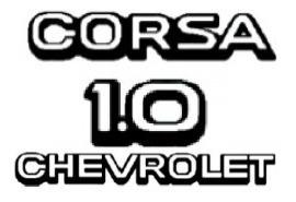 kit emblemas corsa 1.0 chevrolet 94-95 cromado e pr + brinde