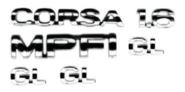 kit emblemas corsa 1.6 mpfi 3 gl 96 em diante + brinde
