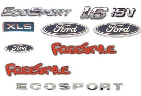kit emblemas ecosport 1.6 16v xls 3 ford 2 freestyle ecospor