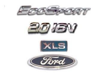 kit emblemas ecosport 2.0 16v xls e ford porta malas  brinde