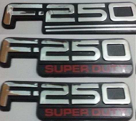 kit emblemas f-250 super duty traseiro e laterias + brinde