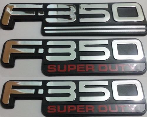 kit emblemas f-350 super duty traseiro e laterias + brinde