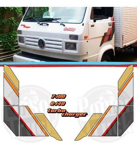 kit emblemas + faixa decorativa padrão caminhão volks 1994