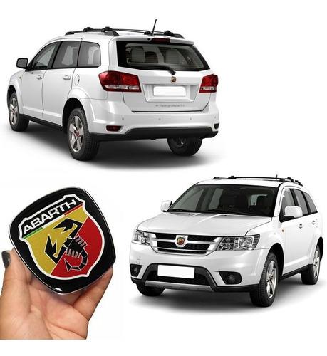 kit emblemas fiat abarth freemont ades dianteiro traseiro
