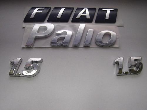 kit emblemas fiat p/ mala + palio + 2 1.5 02/03 - bre