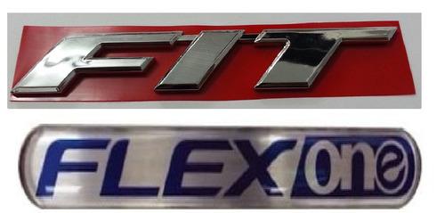 kit emblemas fit flex one new fit honda + brinde