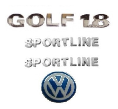 kit emblemas golf 1.8 sportline emblema chave canivete vw