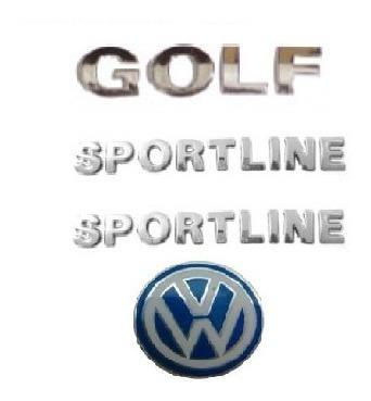 kit emblemas golf 2 sportline  e emblema chave canivete vw