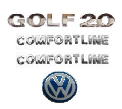 kit emblemas golf 2.0 comfortline emblema chave canivete vw