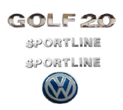 kit emblemas golf 2.0 sportline emblema chave canivete vw