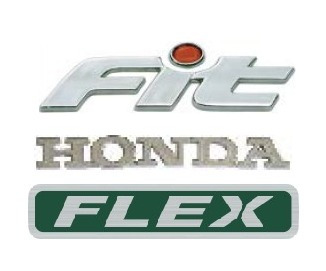 kit emblemas honda fit flex cromado