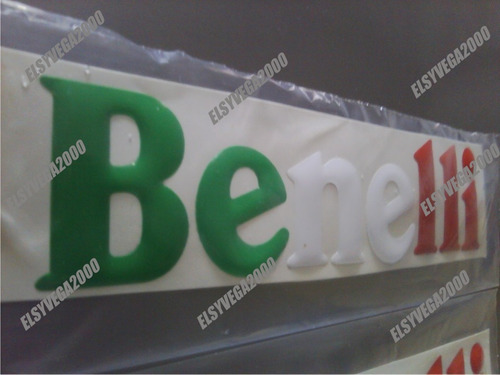 kit emblemas letras 3d  motos benelli tipo bandera de italia