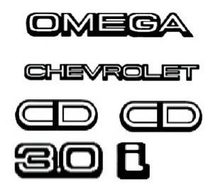 kit emblemas omega 2 cd chevrolet 3.0i  + brinde