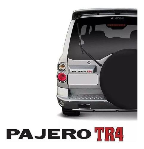 kit emblemas pajero tr4 flex 4x4 preto adesivos resinados