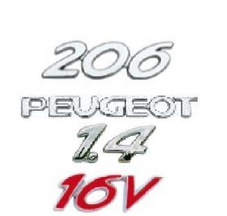 kit emblemas peugeot 206 1.4 16v