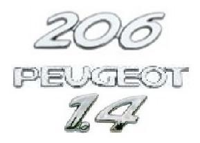 kit emblemas peugeot 206 1.4