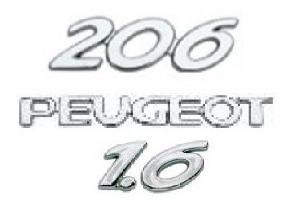 kit emblemas peugeot 206 1.6
