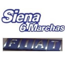 kit emblemas siena 6 marchas e fiat azul cromado+ brinde
